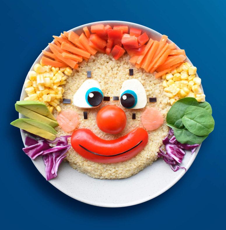 Как украсить детское блюдо